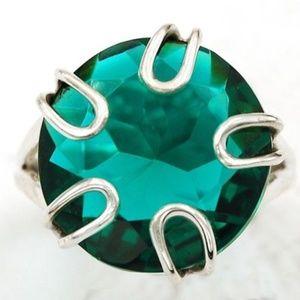 Jewelry - 8CT Apatite Gemstone .925 Silver Ring 7